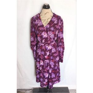 Who What Wear Dress Floral Tie back Side Small